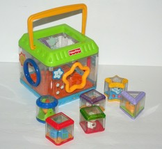Fisher Price Peek A Boo Blocks Shape Sorter Sensory Infant Toy, 6 Blocks - $21.19