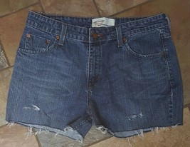 Women's Levi's Mid Rise CutOff Jean Shorts Size 12 Distressed (Inventory... - $12.86