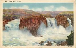Linen ID Postcard D837 Twin Falls Idaho Cancel 1938 Wesley Andrews Curt Teich  - $7.75