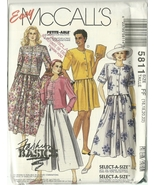 McCall's Sewing Pattern 5811 Misses Womens Top Skirt Split-Skirt 16 18 2... - $12.99