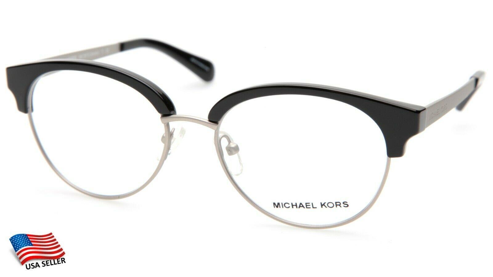 NEW MICHAEL KORS MK3013 Anouk 1142 BLACK EYEGLASSES FRAME 52-17-135mm - $44.09