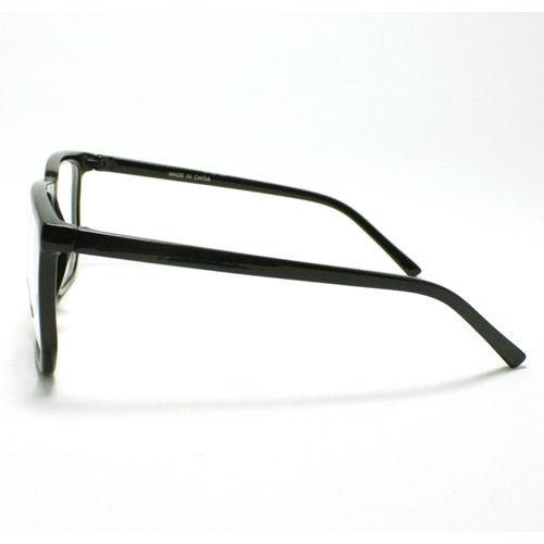 Unique Square Eyeglasses Geek Nerdy Fashion Clear Lens Eyewear BLACK