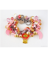 Sailor Moon Bracelet, Crystal Carillon Charm, Fairy Kei, Magical Girl, J... - $48.00