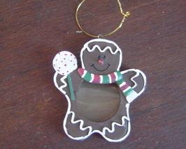 New Gingerbread Man Photo Christmas Ornament - $3.50