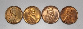 1940-P&D, 1941-P&D  Lincoln Wheat Cents (4 Coins) Lot AE986 - $21.22