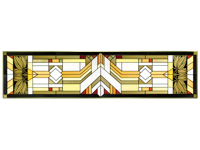 42x10 Stained Art Glass MISSION STYLE Window Suncatcher