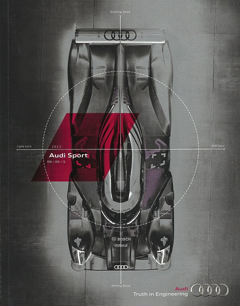Primary image for 2013 Audi SPORT Models US brochure catalog R8 S4 S5 S6 S7 S8 RS5 TT S RS 13
