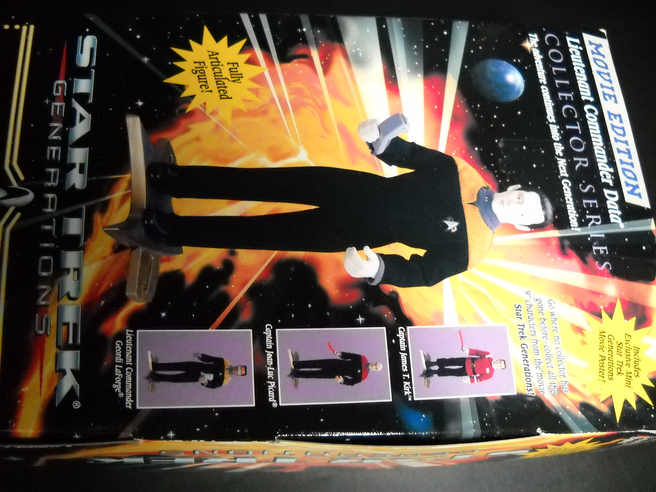 Star Trek Collector Generations Movie Edition Lt Commander Data 9 Inch Sealed