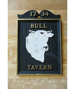 1734 Bull Tavern advertising there bar steer cow bull cowboy rodeo farm ... - $38.00