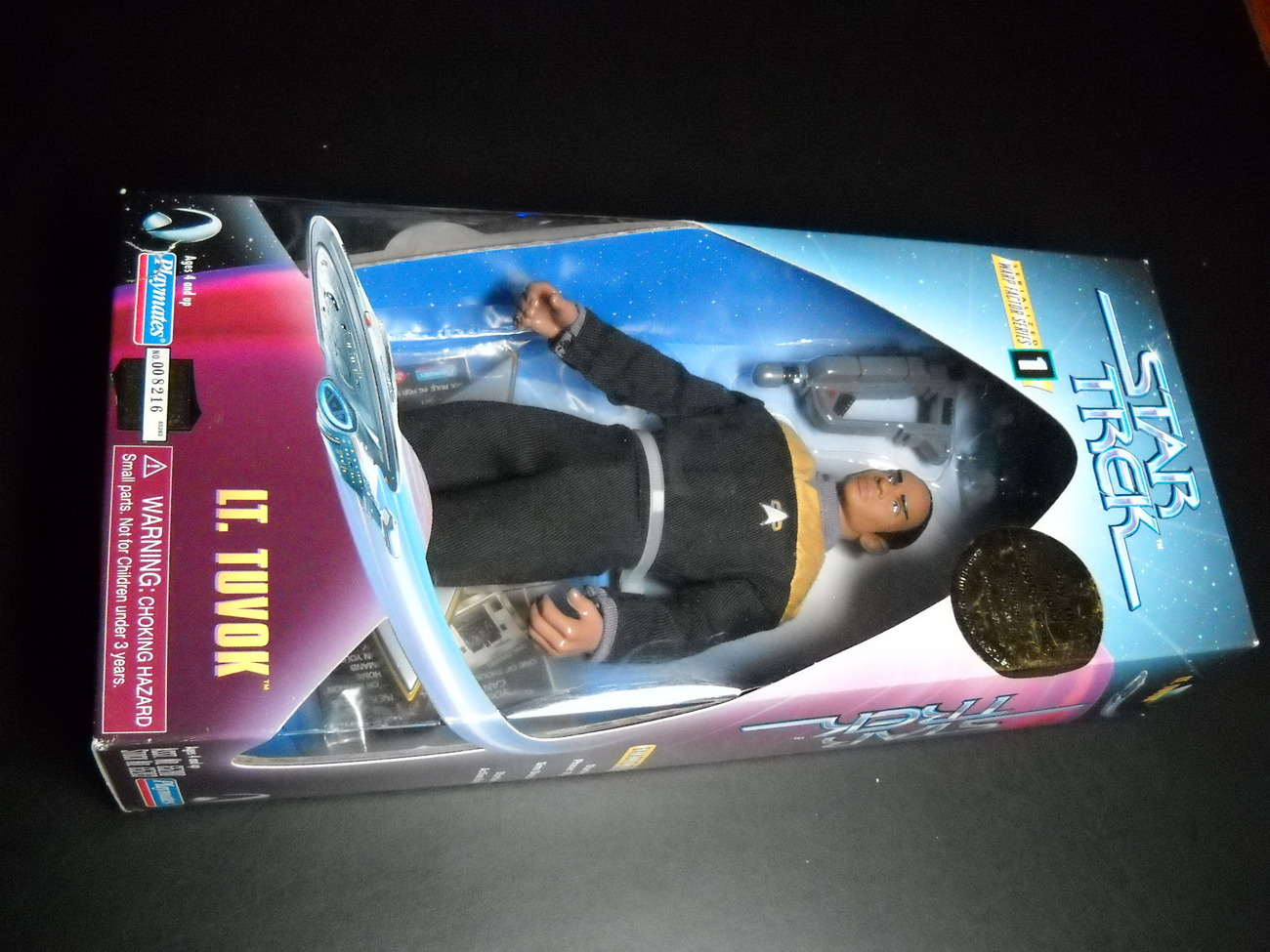 Toy star trek playmates warp factor series one lt tuvok voyager 1997 9 inch boxed sealed 01