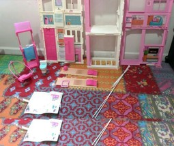 Barbie Mattel Barbie Pink Passport 3-Story Townhouse MISSING PARTS AS-IS! - $39.74
