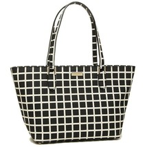 NWT KATE SPADE NEW YORK Small Dally Laurel Checker Shoulder Bag Black WK... - $134.64