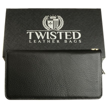 Black Leather Clutch 'Smooth Style' - $19.80