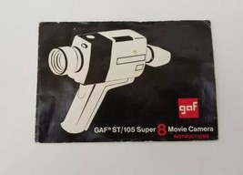 GAF ST/105 Super 8 Movie Film Camera Operating Instructions Manual Booklet  - $10.23