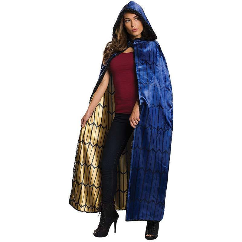 Wonder Woman Deluxe Hooded Cape BLUE Justice League Licensed One Size NEW