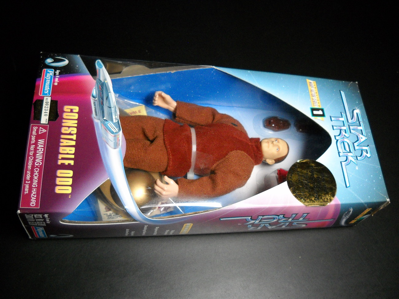 Toy star trek playmates warp factor series one constable odo ds9 1997 9 inch boxed sealed 01