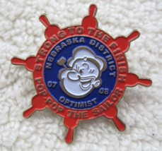 Nebraska Optimist Pop-Pop The Sailor Ships Wheel Pin Back Button Souveni... - $7.43