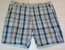 Casuals Roundtree & Yorke Size 52 STRAIGHT FIT Light Blue Cotton New Mens Shorts image 1