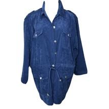 Denim & Company Cobalt Blue Lightweight Spring Jacket Sz Large - $21.75