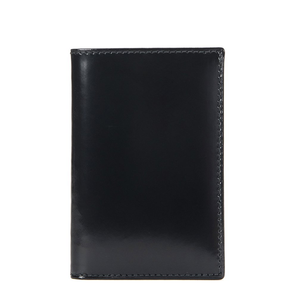 Comme des Garcons Glossy Black Leather Wallet SA6400FL-BLUE