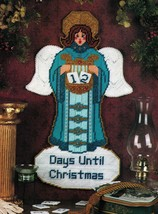 Plastic Canvas Xmas Advent Angel Tissue Cover Poinsettia Placemat Napkin... - $7.99