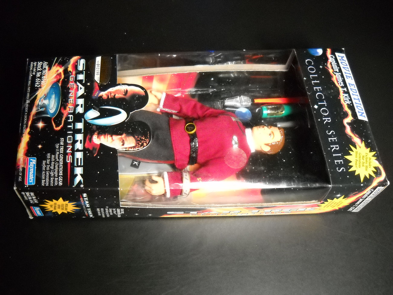 Toy star trek playmates star trek generations movie edition captain james t kirk 1994 9 inch boxed sealed 01