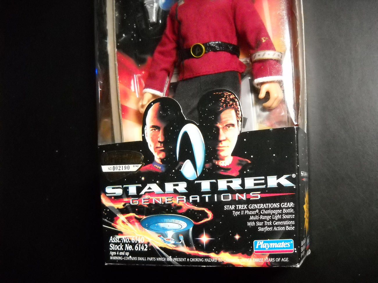 Star Trek Generations Collector Series Movie Edition Captain James T Kirk Sealed