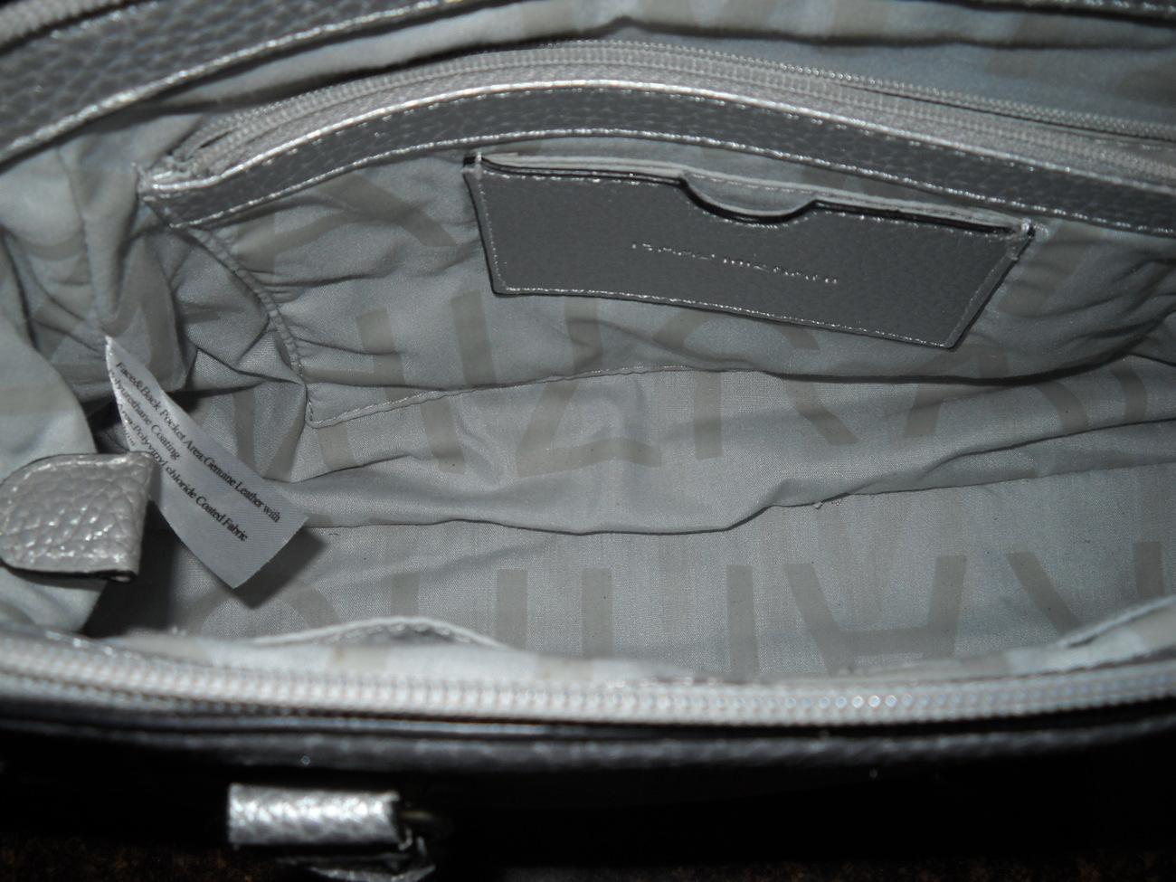Isaac Mizrahi Silver Handbag Leather Discontinued
