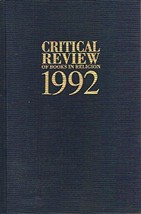 Critical Review of Books in Religion, 1992 Eldon Jay Epp - $20.00