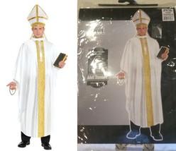 POPE Papa Halloween Costume Pius Pontiff Hat Robe #936 Adult Men Standard New - $29.67