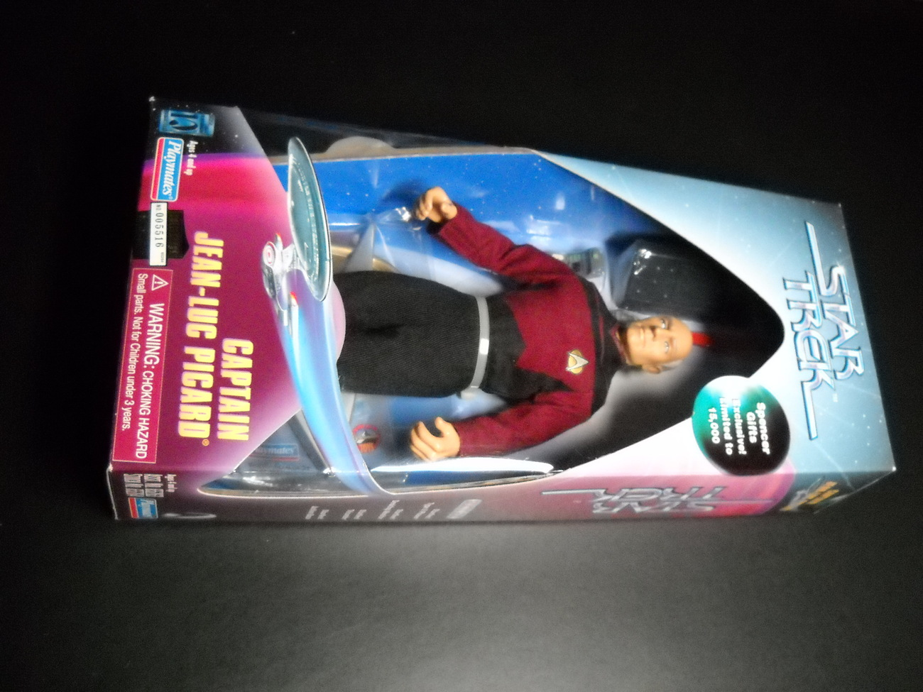 Toy star trek playmates spencer gifts exclusive captain jean luc picard 1997 9 inch boxed sealed 01