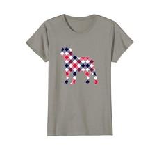 English Mastiff Plaid Dog Silhouette T-Shirt v1 - $19.99+