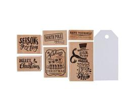 Christmas Rubber Stamps and Tags Kit