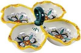 Tray RICCO Deruta Majolica Emerald Green Royal Blue Yellow - $169.00