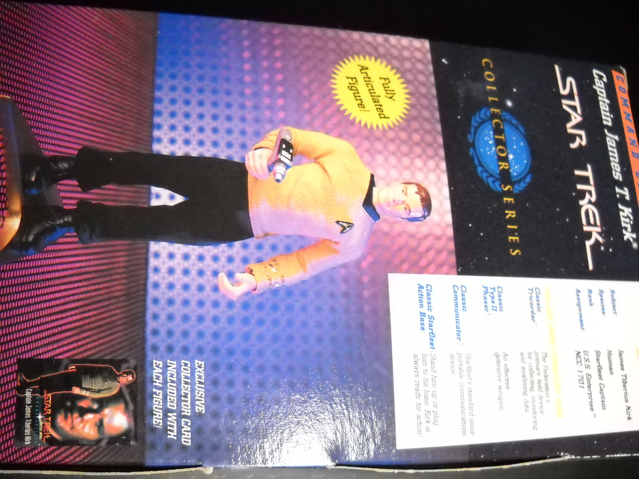 Star Trek Collector Series Command Edition Captain James T Kirk 1994 Sealed Box