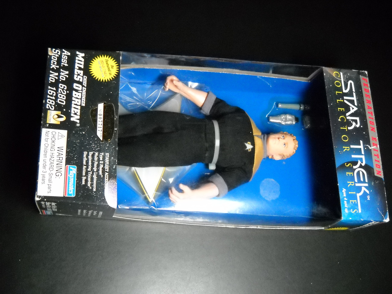 Toy star trek playmates federation edition chief engineer miles o brien 9 inch 1996 boxed sealed 01