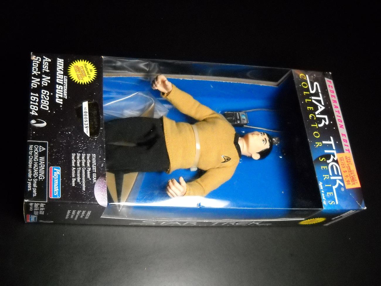 Toy star trek playmates federation edition lieutenant hikaru sulu 9 inch 1997 boxed sealed 01