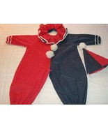 HALLOWEEN BOY OR GIRL CLOWN COSTUME RED WHITE BLUE DOTS - $14.99