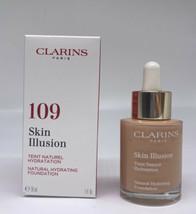 Clarins Skin Illusion Natural Hydrating Foundation - 109 Wheat - 1.0 oz BNIB - $36.62