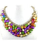 Stylish Handmade Bead Acrylic Bib Necklace - $15.00