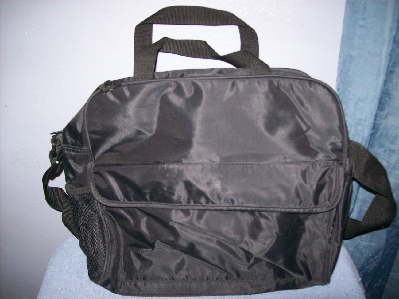 small black insulated diaper cooler bag diaper bags. Black Bedroom Furniture Sets. Home Design Ideas