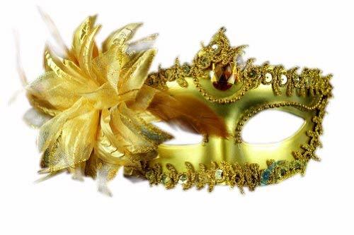 Primary image for Venetian Party Mask Halloween Party Mask Costume Masquerade Night Out(Gold)