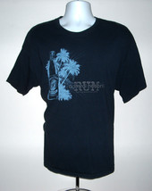 Mens Admiral Nelsons Spiced Rum T Shirt Xlarge Palm Trees Navy Blue Aloha - $21.73