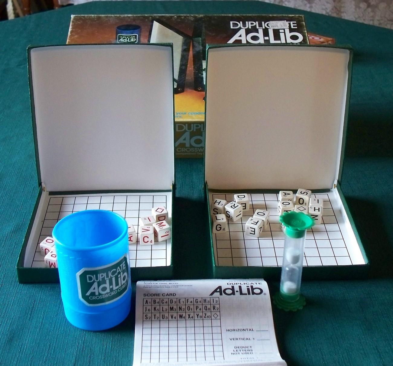 Duplicate Ad-Lib by ES Lowe 1976.  Complete