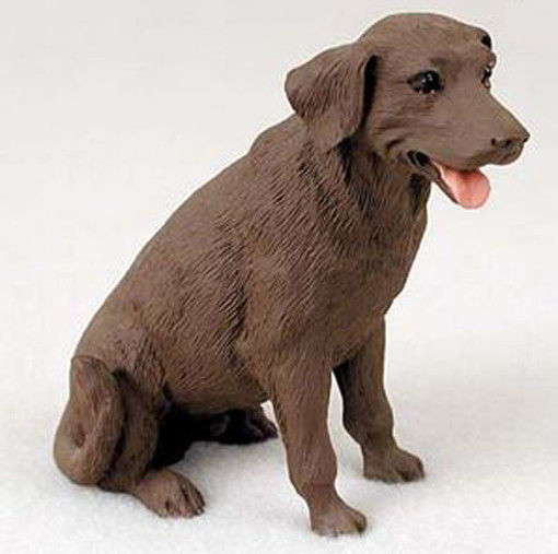 LABRADOR (CHOCOLATE) LAB DOG Figurine Statue Hand Painted Resin Gift Pet Lovers