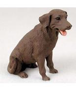 LABRADOR (CHOCOLATE) LAB DOG Figurine Statue Hand Painted Resin Gift Pet... - $16.74