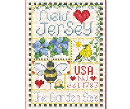 New Jersey Little State Sampler cross stitch chart Alma Lynne Originals - $6.50