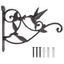 Hanging Plant Hook Hummingbird Cast Iron Decorative Flower Basket Wall H... - $18.20