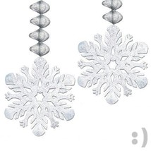 NEW Foil Snowflake Danglers   (2/Pkg) BRAND NEW - $5.83