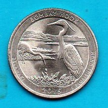 2015 Delaware America The Beautiful Washington Quarter - Bombay Hook - $1.25